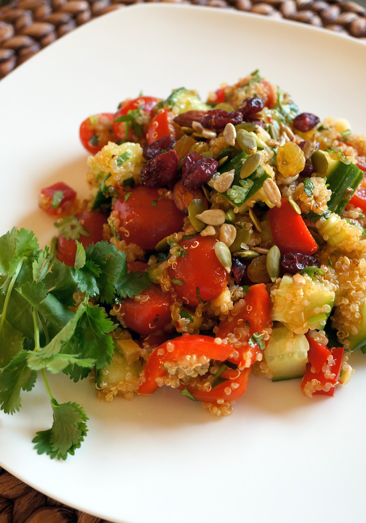 Quinoa, Cucumber and Cherry Tomato Salad